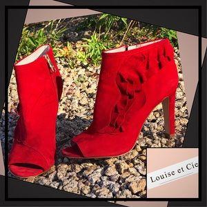 LOUISE ET CIE 'Haze' Red Leather Bootie
